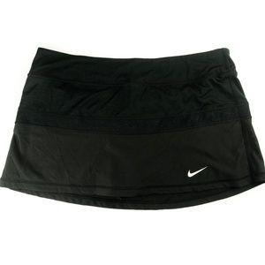 Nike Dri-Fit Skirt Screen Logo Solid Black Skort